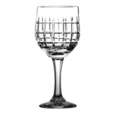 Set of crystal wine glasses symetric 6 pcs