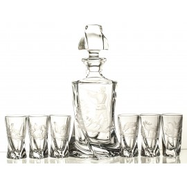 Vodka Decanter and Glasses Set 02178