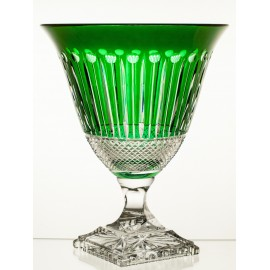 Crystal Painted Fruitbowl Emerald 09507