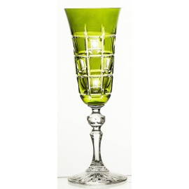 Painted Crystal Champagne Glasses, Set of 6 07720