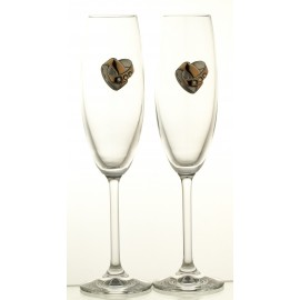 Wedding Crystal Champagne Glasses, Set of 2 10156