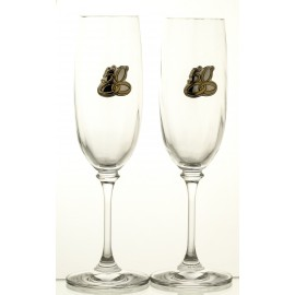50th Wedding Anniversary Crystal Champagne Glasses, Set of 2 10159