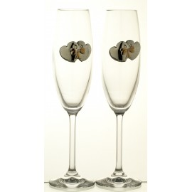 Wedding Crystal Champagne Glasses, Set of 2 06049