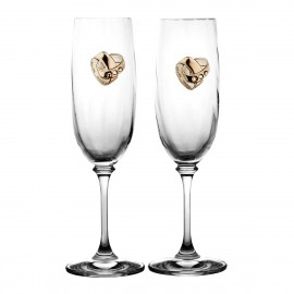 Set of crystal wedding glasses 2 pcs