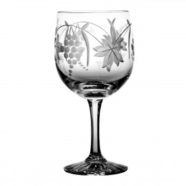 Engraved Crystal Red Wine and Water Glasses, Set of 6 07109