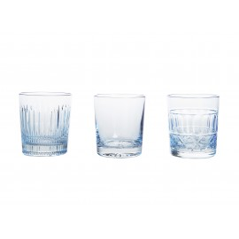 Painted Crystal Whisky Glasses, Set of 3 14694