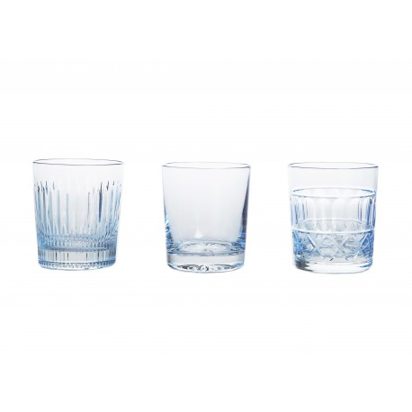 Set of painted crystal whisky glasses 3 pcs