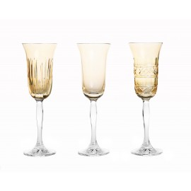 Painted Champagne Glasses, Set of 3 14685