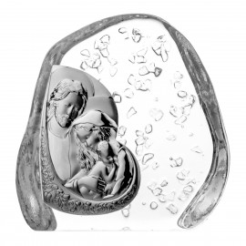 Crystal Paperweight with Holy Family 4500