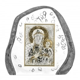 Crystal Paperweight with Mary and Baby Jesus 5106