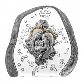 Crystal Paperweight with Holy Family 5289