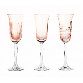 Painted Champagne Glasses Set of 3