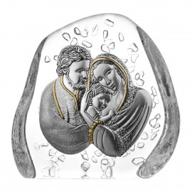 Crystal Paperweight with Holy Family 05520