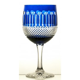 Crystal Painted Red Wine and Water Glasses Set of 6, 16372