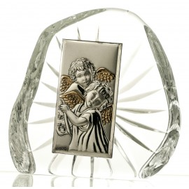 Crystal Paperweight with Angels 7292