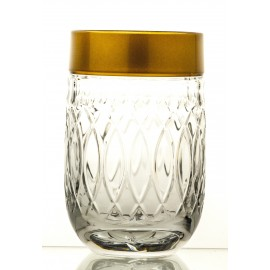 Crystal Painted Drink Glasses Set of 6