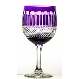 Crystal Painted Red Wine and Water Glasses, Set of 6 16371