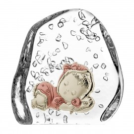 Crystal Paperweight with Child 03272
