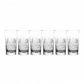 Engraved Crystal Long Drink Glasses, Set of 6 00041