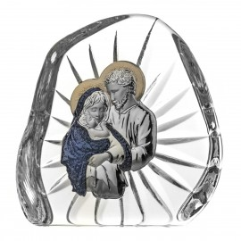 Crystal Paperweight with Holy Family 7010