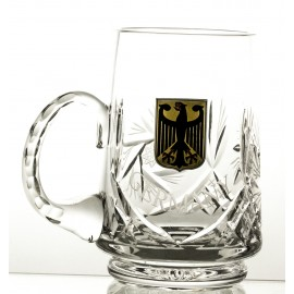 Crystal Beer Mug with German Emblem 05897