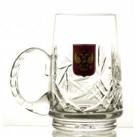 Crystal Beer Mug with Russian Emblem 05898