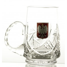 Crystal Beer Mug with Polish Emblem 05899