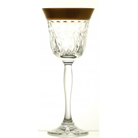 Painted Red Wine and Water Glasses Set of 6