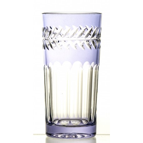 Set of painted crystal long drink glasses 6 pcs
