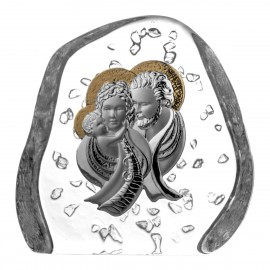 Crystal Paperweight with Holy Family 03743