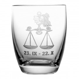Crystal Whisky Glass with Zodiac Sign Libra 05615