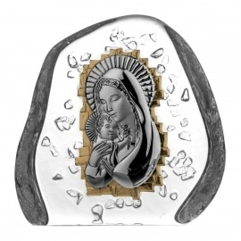 Crystal Paperweight with Mary and Baby Jesus 03820