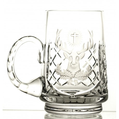 Crystal beer mug engraved