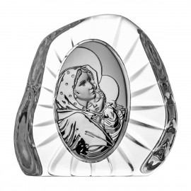 Crystal Paperweight with Mary and Baby Jesus 07316