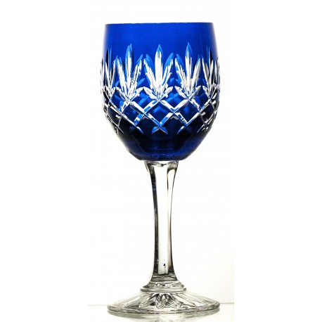 Crystal Painted Red Wine Glasses Set of 6