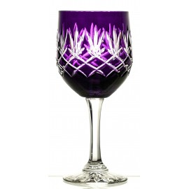 Crystal Painted Red Wine and Water Glasses, Set of 6 10593