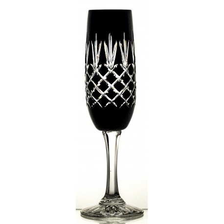 Painted Crystal Champagne Glasses Set of 6