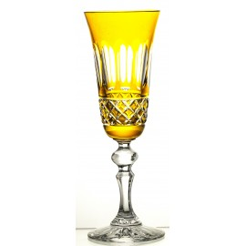 Painted Crystal Champagne Glasses, Set of 6 06286