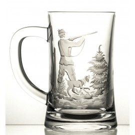 Engraved Crystal Beer Mug 05955
