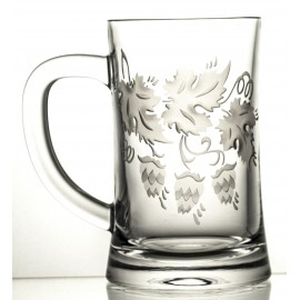 Engraved Crystal Beer Mug 05952
