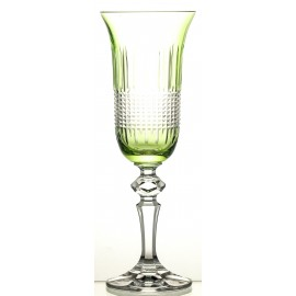 Painted Champagne Glasses Set of 6
