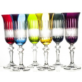 Painted Champagne Glasses, Set of 6 19203