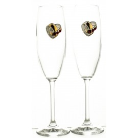 Wedding Crystal Champagne Glasses, Set of 2 11530