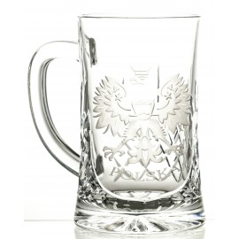 Engraved Crystal Beer Mug 05990