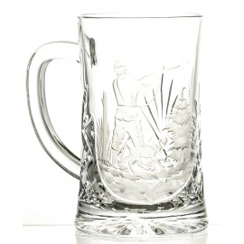 Engraved Crystal Beer Mug 05993