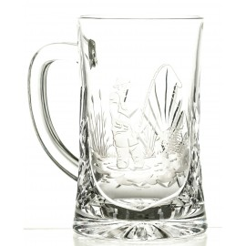 Engraved Crystal Beer Mug 05994