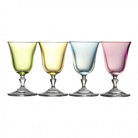 Crystal Sherry and Liqueur Glasses Set of 4 Fluo