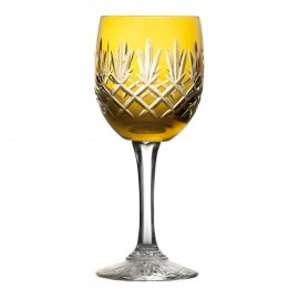 Crystal Painted Wine Glasses Set of 6