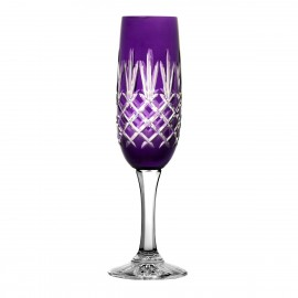 Painted Crystal Champagne Glasses, Set of 6 10503
