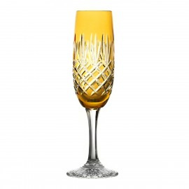 Painted Crystal Champagne Glasses, Set of 6
